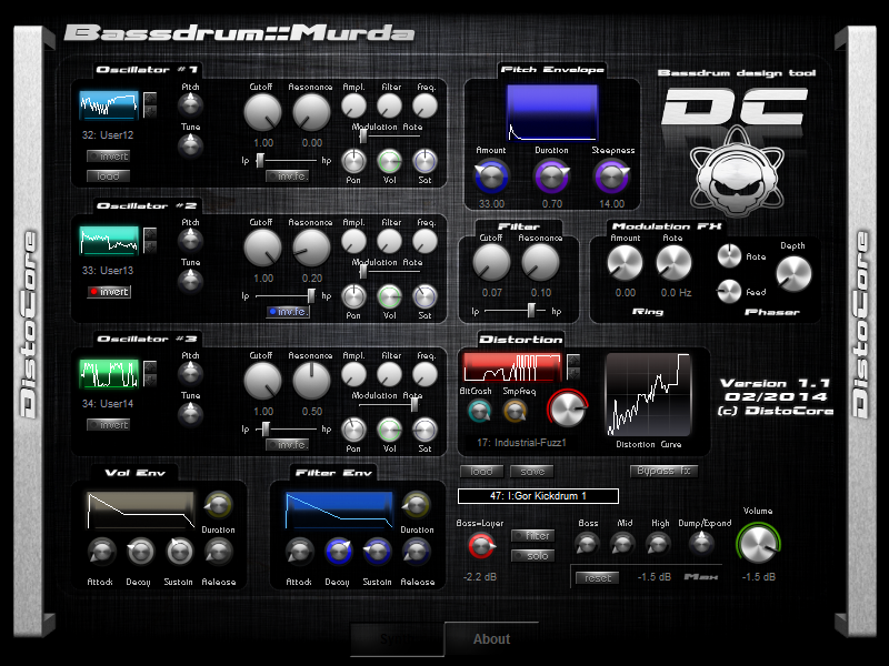 DistoCore Bassdrum::Murda Synth